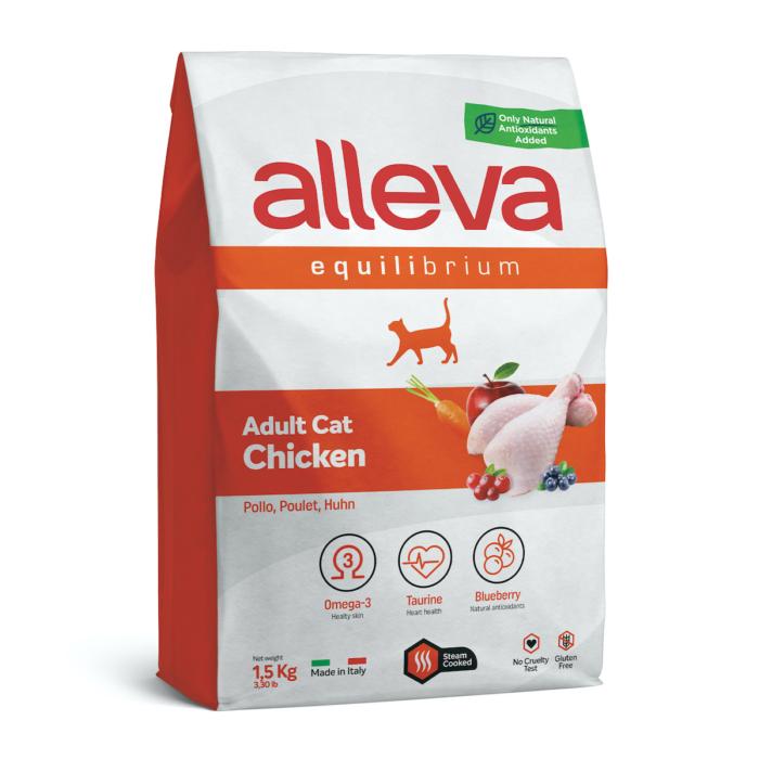 Alleva Equilibrium Felnőtt Macskáknak Csirke 1,5 kg
