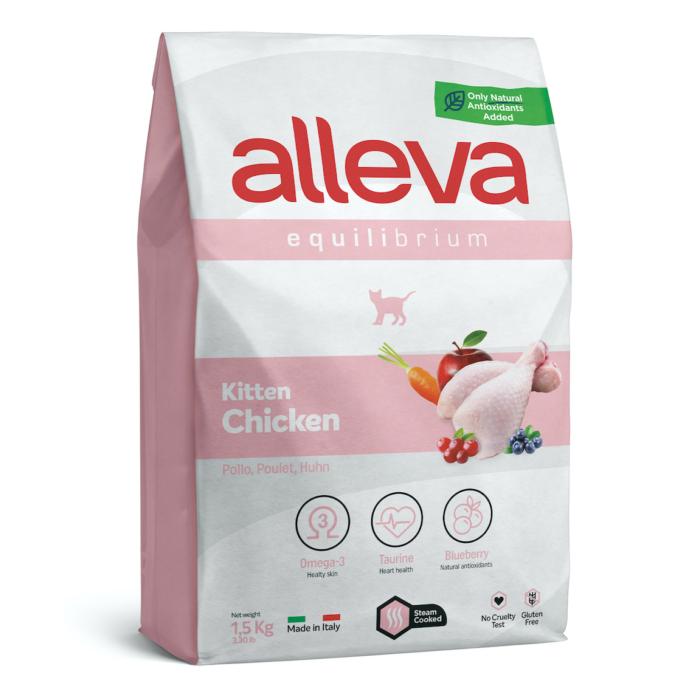 Alleva Equilibrium Kölyökmacskáknak Csirke 1,5 kg