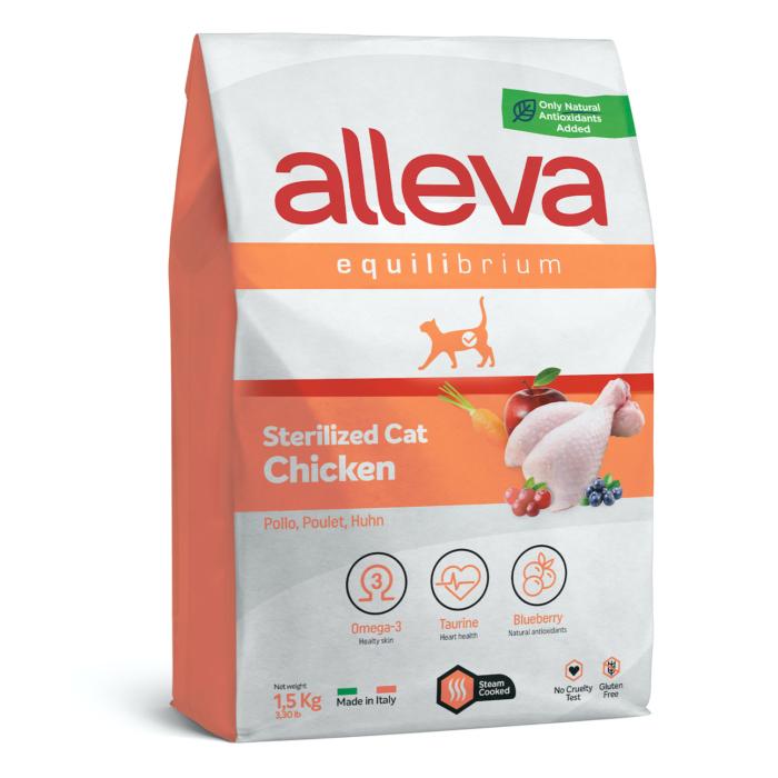 Alleva Equilibrium Steril Felnőtt Macskáknak Csirke 1,5 kg