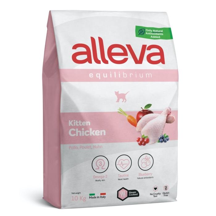 Alleva Equilibrium Kölyökmacskáknak Csirke 10 kg