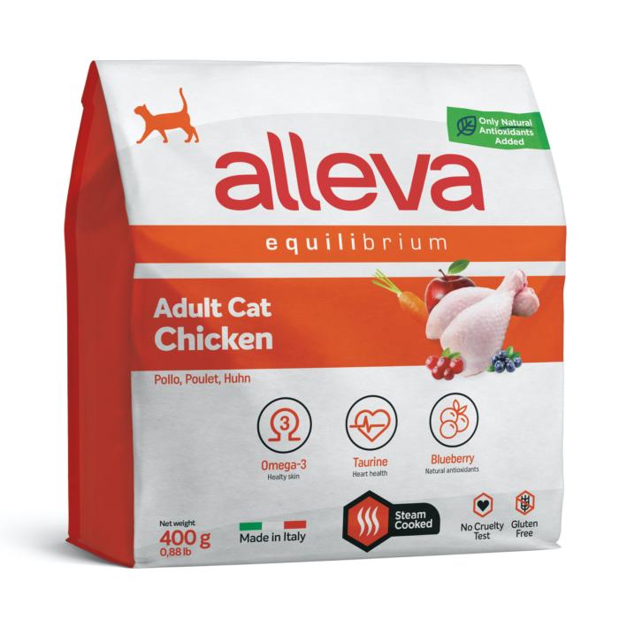 Alleva Equilibrium Felnőtt Macskáknak Csirke 400 g