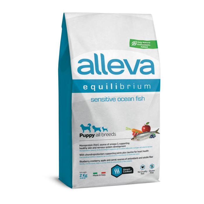 Alleva Equilibrium - Tengeri halat tartalmazó táp érzékeny kutyák részére - Kölyökkutyáknak - 2kg